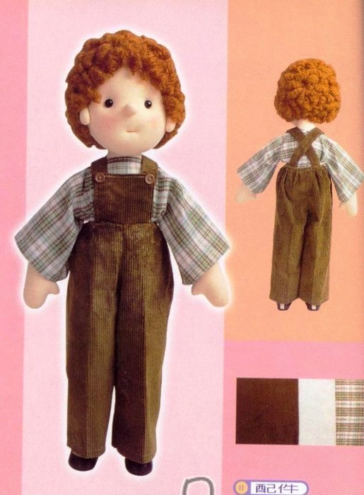 Кукла мальчик из ткани