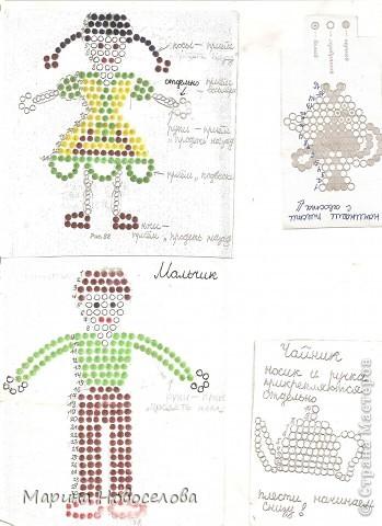 Схема плетения бисером жених и невеста