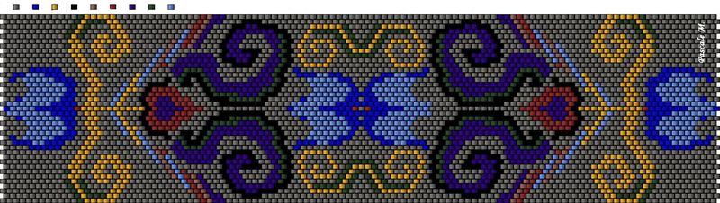 Схемы для мозаичного и кирпичного плетения. .  - Страница 3 - Форум.