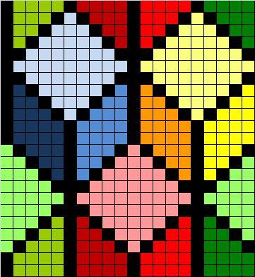 Схема вышивки крестом геометрический рисунок