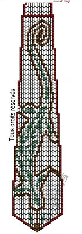 Схема мозаичного плетения Галстука из бисера своими руками.